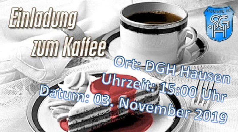 Kaffeenachmittag der SG Hausen