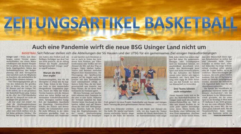 Zeitungsartikel Basketball