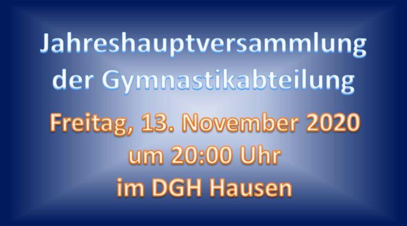 Jahreshauptversammlung Gymnastik
