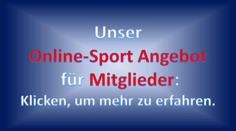 Unser Online-Sport-Angebot für Mitglieder